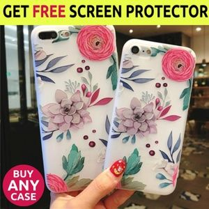 NEW iPhone Max/XR/7/8 Floral Case